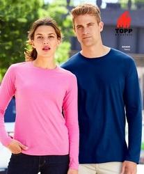 Tricou - bluza cu maneci lungi barbati Gildan bleumarin