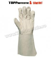 Mănuși sudor cu palmă din piele integrală de bovină