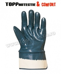 Manusi de protectie bumbac integral,imersat in nitril albastru
