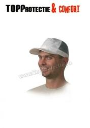 Şapcă baseball din material bumbac alb 100% model respirant cu plasa
