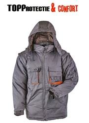 Jacheta de lucru iarna captusita Paddock gri-portocaliu