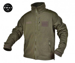 Jacheta fleece military subtire olive