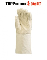 Manusi protectie,tricot buclat bumbac 100%