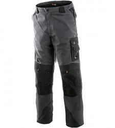 Pantaloni de lucru gri cu intarituri