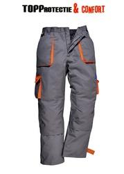 Pantaloni talie Texo Contrast, de calitate superioara Gri/Orange - Lichidare
