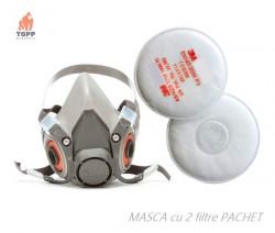 STOC EPUIZAT - Masca protectie de praf 3M 6200 cu filtre 3M 2125 P2