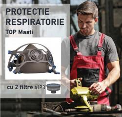 STOC EPUIZAT Masca protectie praf si substante chimice cu 2 filtre