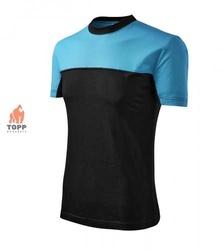 Tricou bicolor ADL109 rosu-negru, albastru-bleumarin