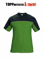 Tricou bicolor Stanmore confortabil 100% bumbac verde