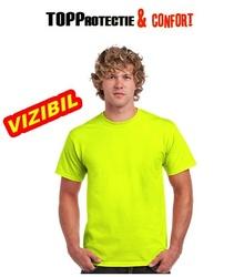 Tricou Outdoor vizibilitate galben fluorescent