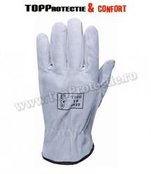 Mănuși de piele, cu încheietură superioară elastică, pentru solicitare intensă
