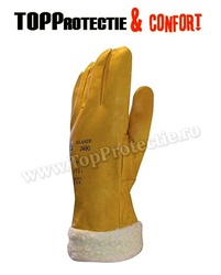 Manusi de protectie iarna frig din piele imblanite