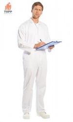 Combinezon alb industria alimentara - spalare 60 grade