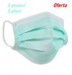 Masca igienica de protectie praf 3 pliuri stoc limitat 10BUC/PACHET