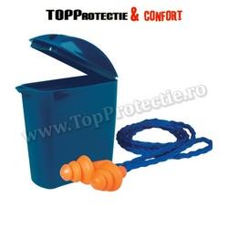 Antifoane interne, din monopren, tip brăduţ, spălabile, reutilizabile,cu snur,3M
