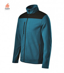 Jacheta fleece performanta albastru petrol