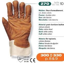 Manusi de protectie manipulare constructii piele maro 270