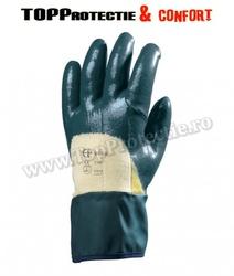 Manusi de protectie rezistente la abraziune,taiere,rupere,imersate in nitril