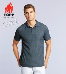 Noi culori elegante tricourile polo de vara SOFT gri perlat