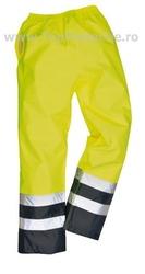 Pantaloni salopeta reflectorizanta Galben Reflex 486