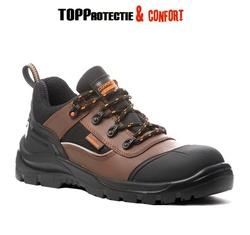 Pantofi de lucru usori S3 compozit, piele nubuc maro