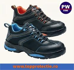 Pantofi de protectie profesionali rezistenti la apa, Nubuk, Contrast