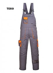 Salopete de lucru cu pieptar santier gri/portocaliu PLUS alte culori