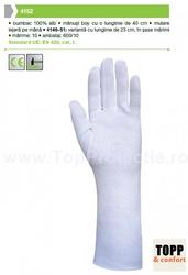 Manusi de protectie bumbac 100% alb BOY 40 cm 4152