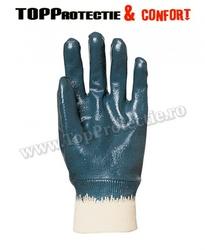 Manusi de protectie imersate in nitril albastru