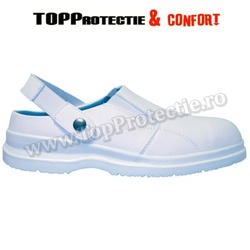 Sabot protectie S1, alb, antistatic, hidrofobizat, respirant, sanitar, medical