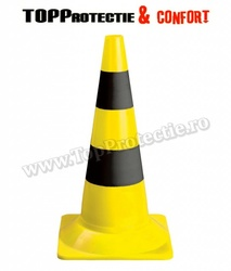 Baliză rutieră reflectorizanta usoara cu o înălţime de 54 cm, galben-negru