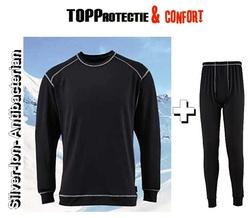 Costum Base layer bluza de corp si pantaloni iarna cu tratament antibacterian Silver-Ion