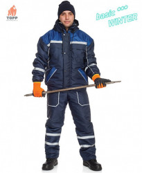 Costum geaca cu pantaloni de protectie iarna reflectorizanta