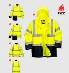 Geaca iarna reflectorizanta se transforma in jacheta si vesta