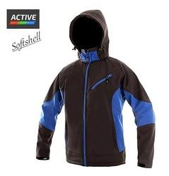 Jacheta de toamna iarna softshell outdoor albastra moderna