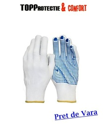 LICHIDARE Manusi de protectie cu picouri PVC in palma, rezistente la uzura