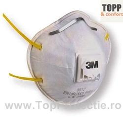 Semi masca cu supapa protectie FFP1 - 3M 8812 Pachet 10 buc