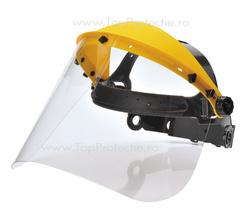 Viziera protectie din PVC pentru lucru cu motofierastrau, Set rama + sticla