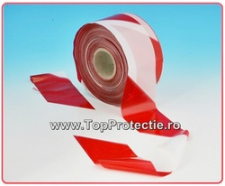 Benzi rosu-alb 250 m x 50 mm - acces interzis -
