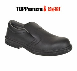 Pantofi ospatari S2 Steelite fara siret,rezistenti cu bombeu otel