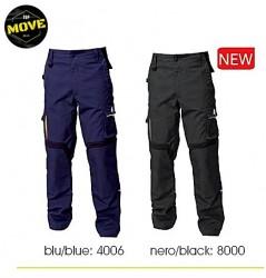 Pantaloni flexibili de lucru bleumarin contrast Top Move