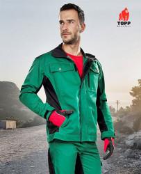 Jacheta de lucru verde Forest