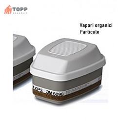 Indisponibil - Filtre protectie particule si gaze/vapori 3M 6098 AXP3 NR