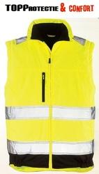 Jacheta de vizibilitate mare de primavara model 2/1,maneci detasabile, dungi reflectorizante