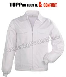 Jacheta Factory alba, confortabila, pentru industria alimentara