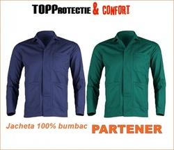 Jacheta lucru din bumbac de calitate albastra si verde