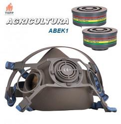 Masca protectie gaz vapori PW cu 2 filtre