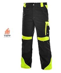 Pantaloni de lucru industriali Contrast negru/galben