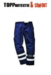 Pantaloni de lucru IONA rezistenti la uzura cu dungi reflectorizante - verde, negru, navy