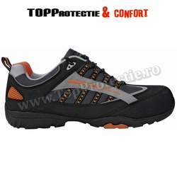Pantofi de protectie Hillite S1P de vara, piele nubuc neagra
